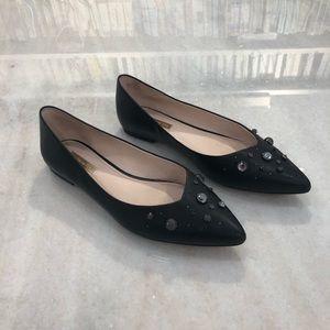 Louise et Cie black jewel flats